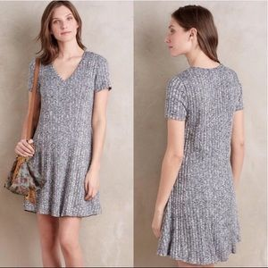 Anthropologie Dolan Ribbed Flare Sweater Dress XS